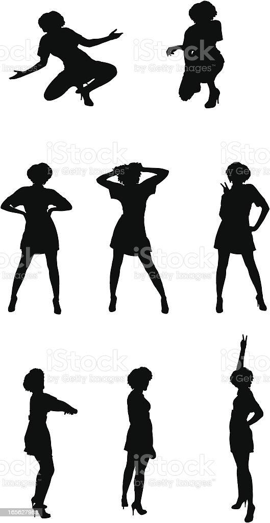 Dancing Girl vector art illustration