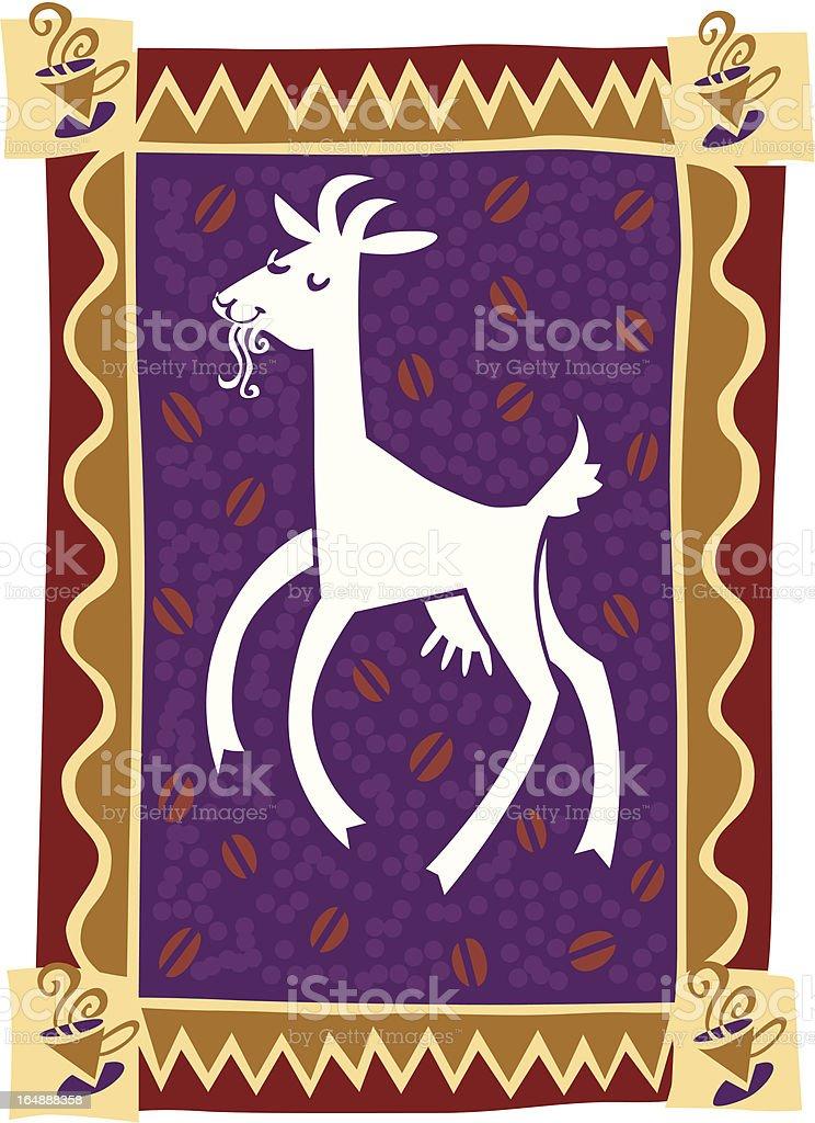 Dancing goat vector art illustration