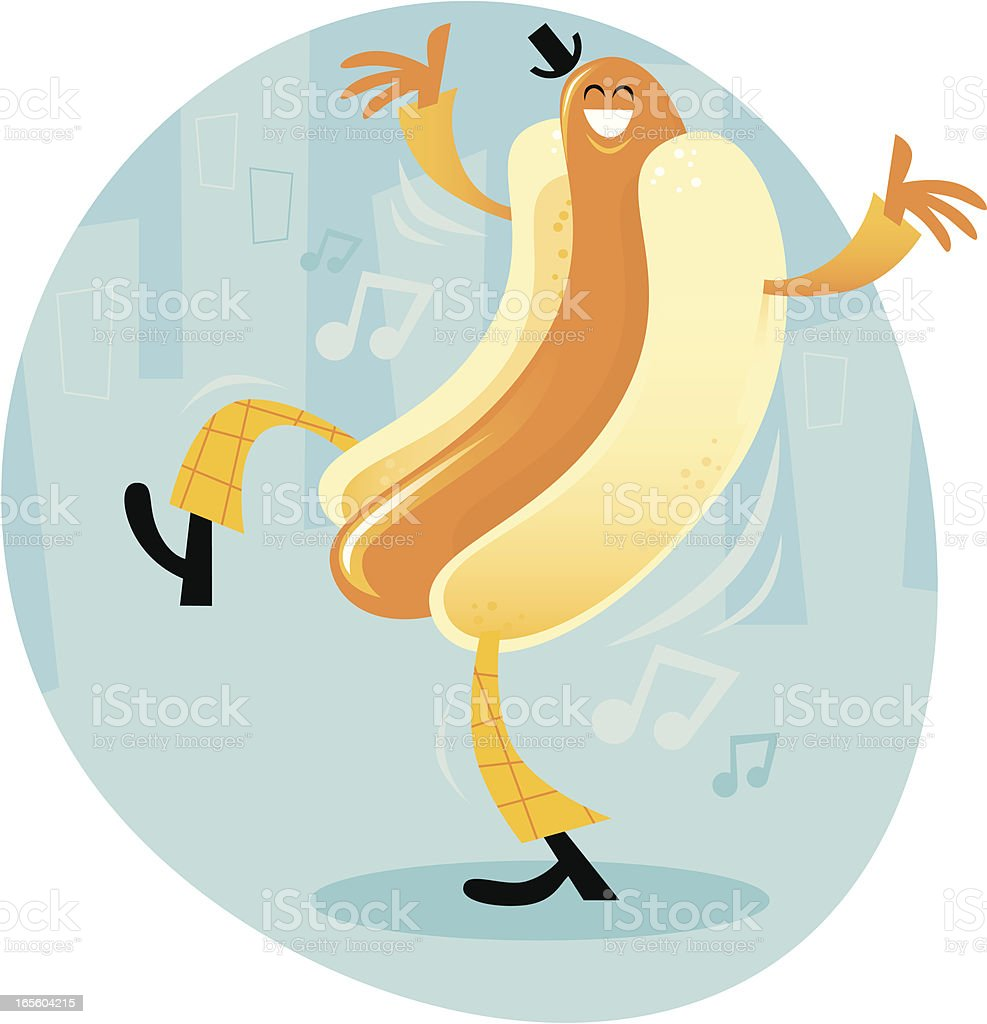 Dancing Hot Dog royalty-free dancing hot dog stock vector art & more images of barbecue