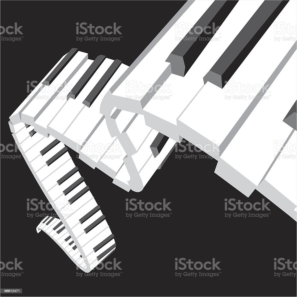 Dancing piano keyboard - Royalty-free Backgrounds stock vector