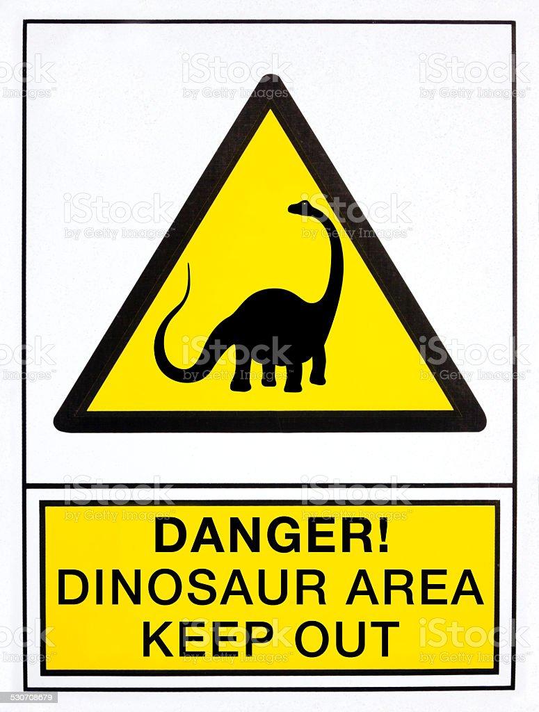 Dinosaurio de señal de peligro - ilustración de arte vectorial