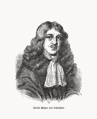 Daniel Casper von Lohenstein (1635-1683), German lawyer, woodcut, published 1893