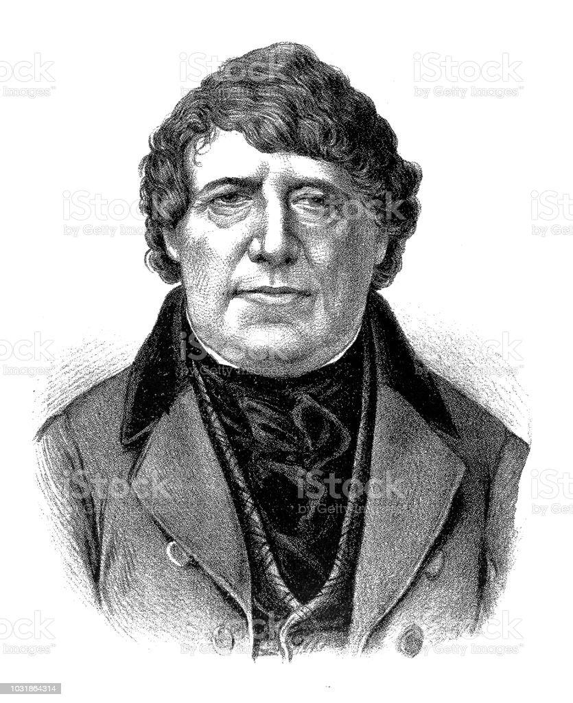 Daniel O'Connell (1775-1847), Irish politician vector art illustration