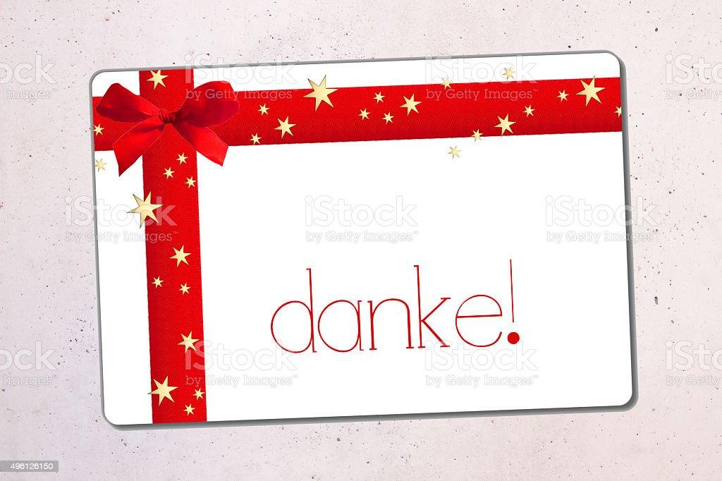 danke- thank you in german vector art illustration