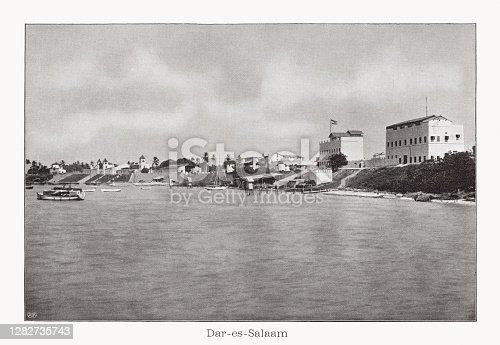 istock Dar es Salaam, Tanzania, photograph halftone print, published in 1899 1282735743