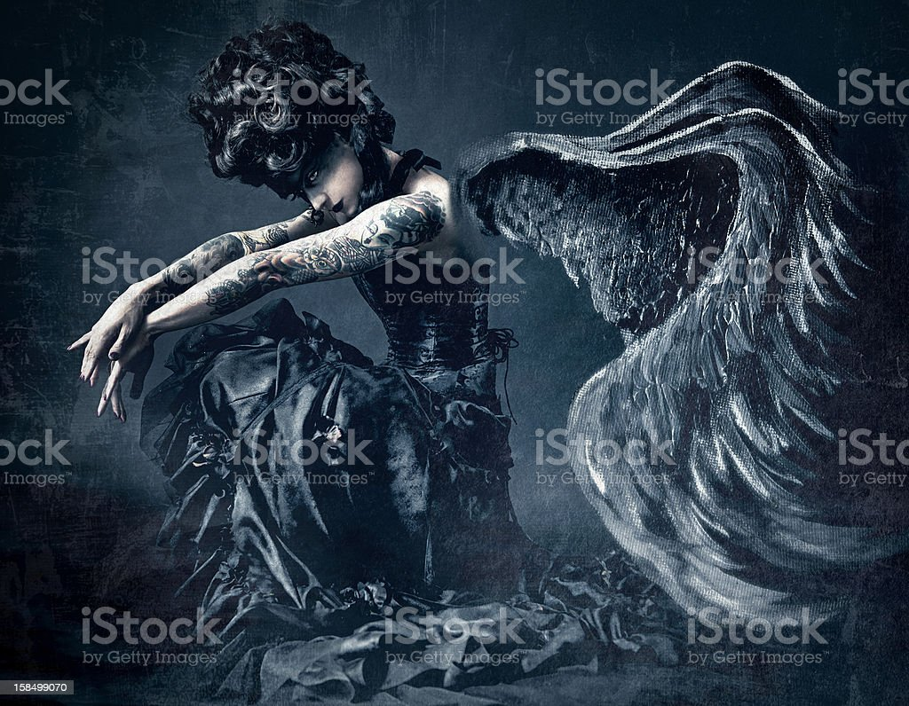 Dark Angel royalty-free dark angel stock vector art & more images of 30-39 years