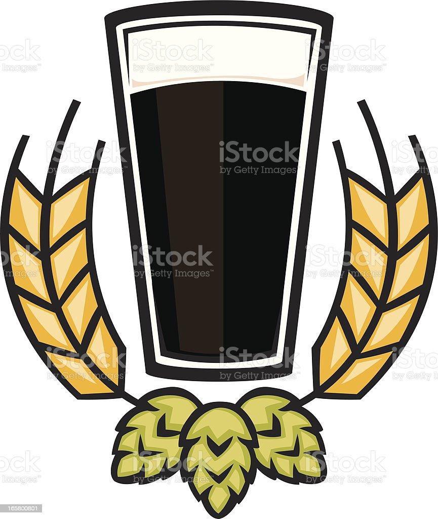 dark beer graphic vector art illustration