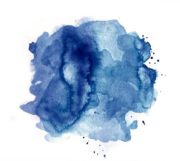 dark blue splash of watercolor - dark blue stock illustrations