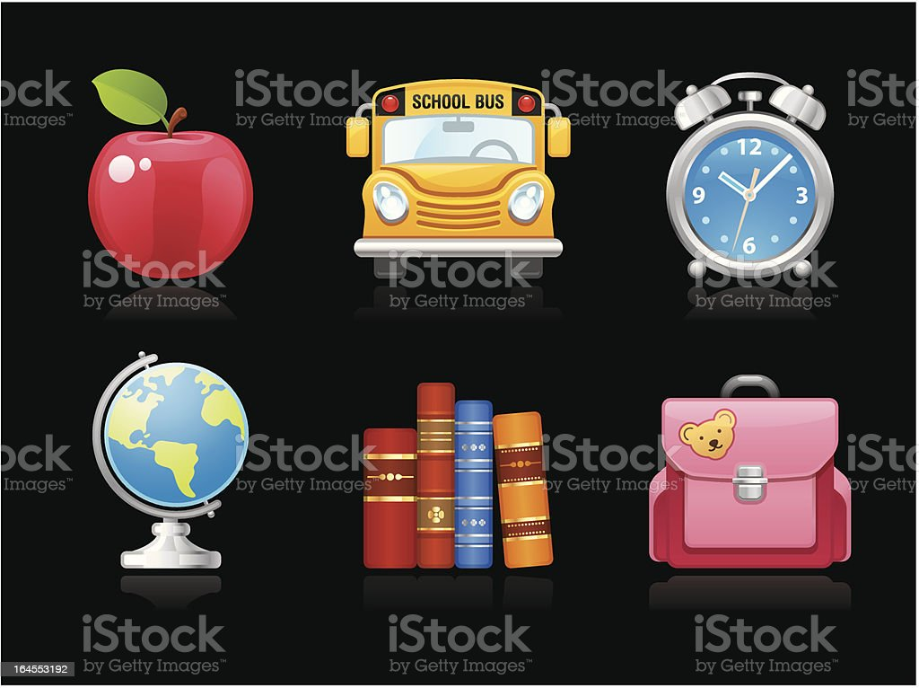 Dark collection - Back to School royalty-free stock vector art