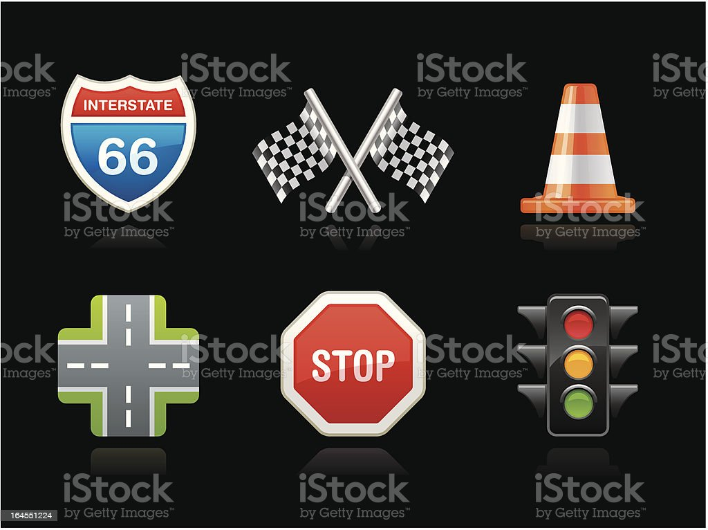 Dark collection - Road sign royalty-free stock vector art