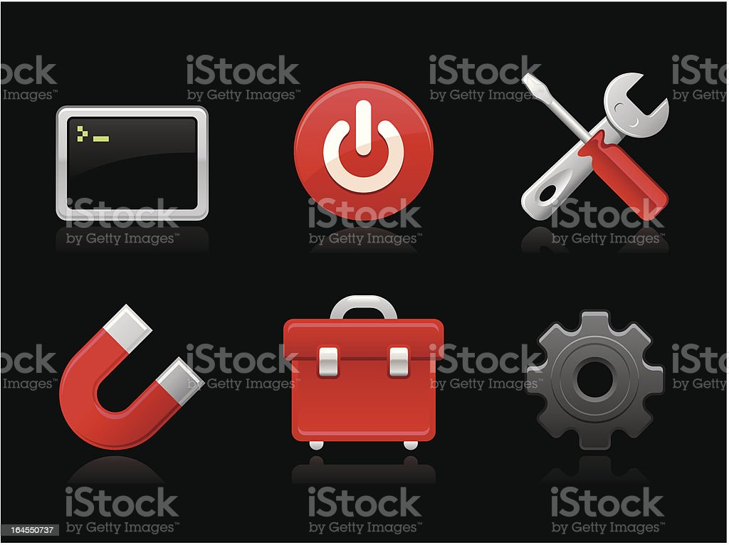 Dark collection - Toolbox royalty-free stock vector art