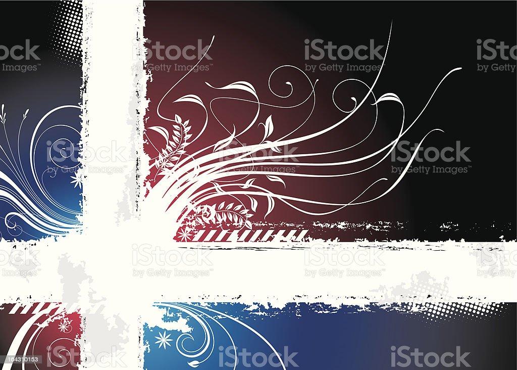 Dark Floral royalty-free stock vector art