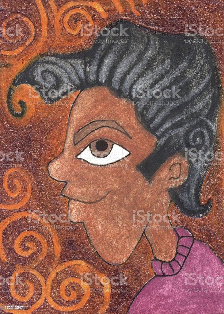 Dark Haired Dude royalty-free stock vector art