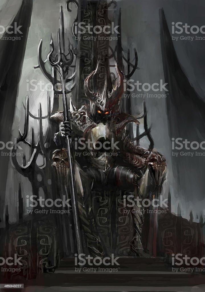 dark king vector art illustration
