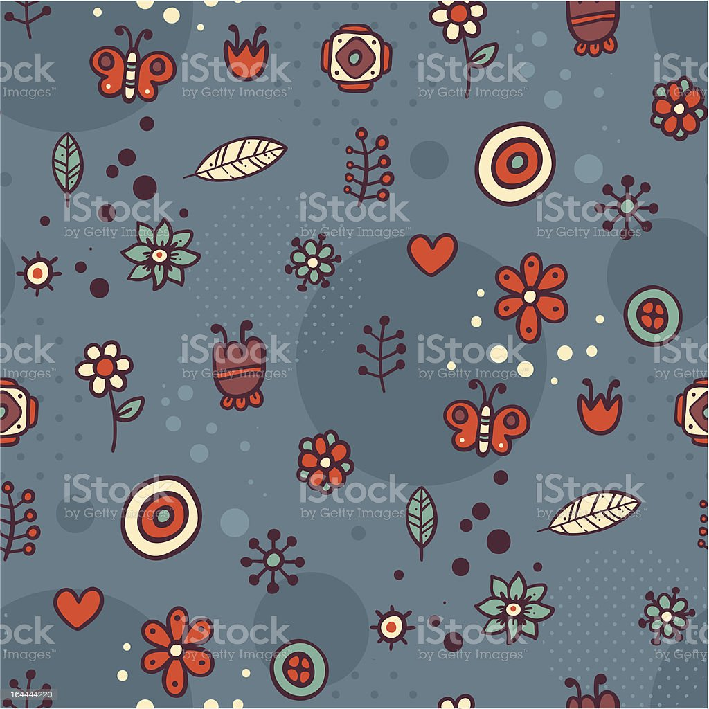 Dark pattern with small cute elements royalty-free dark pattern with small cute elements stock vector art & more images of abstract