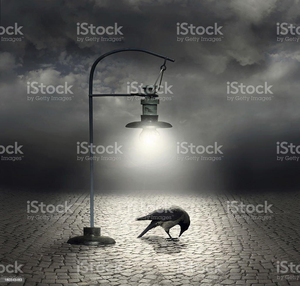 Dark side vector art illustration
