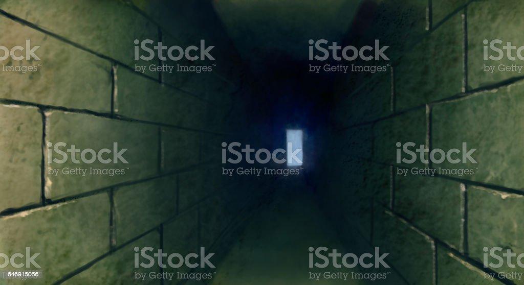 dark tunnel illustration vector art illustration
