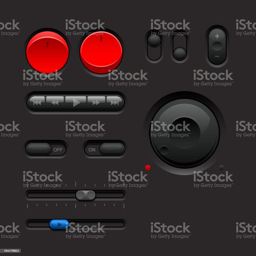 Dark Web UI Elements Part 2 royalty-free stock vector art