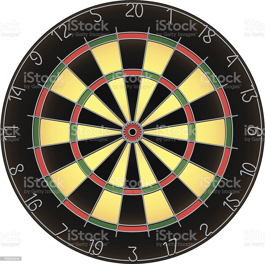Dartboard illustration royalty-free stock vector art