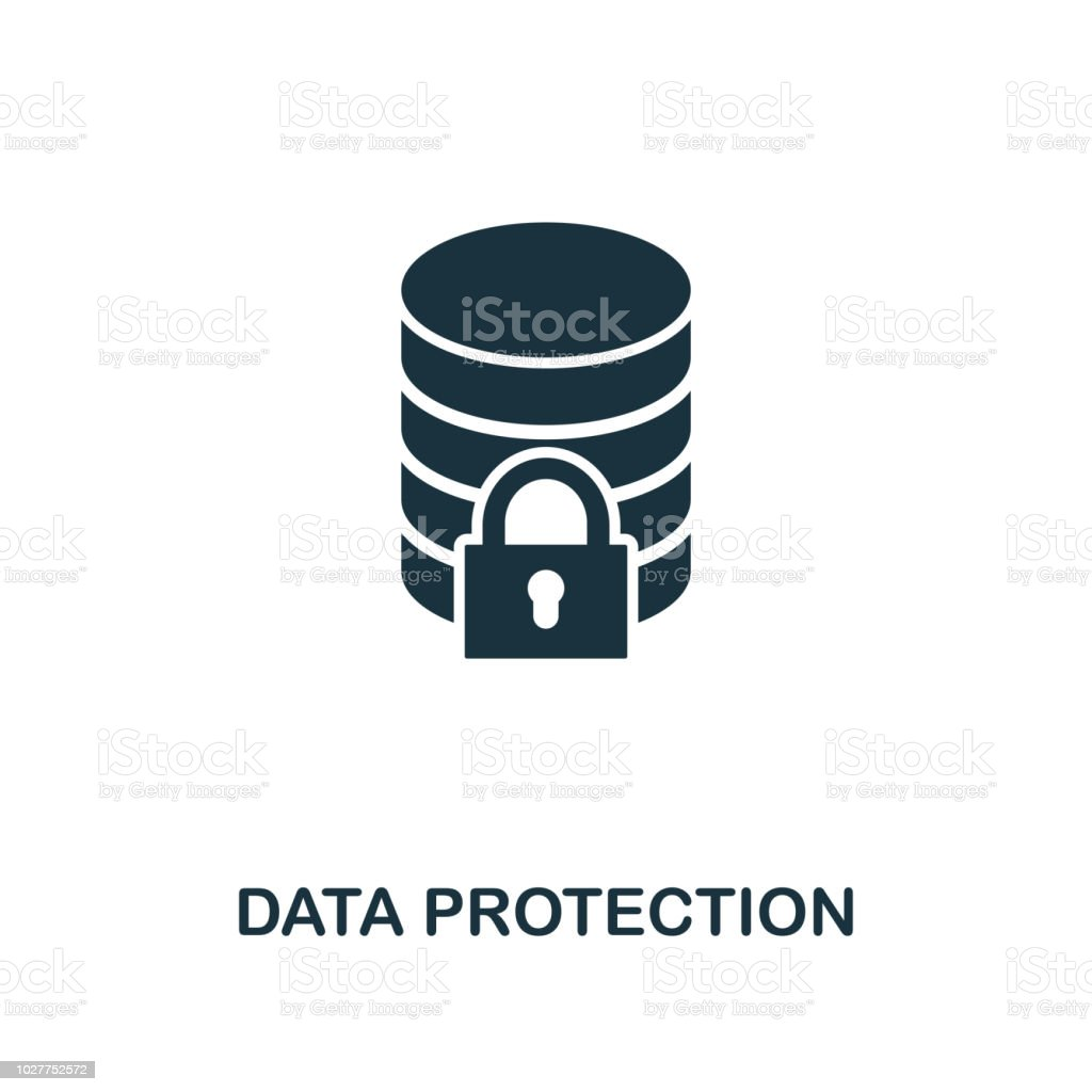 Data Protection Icon Monochrome Style Design From Internet Security
