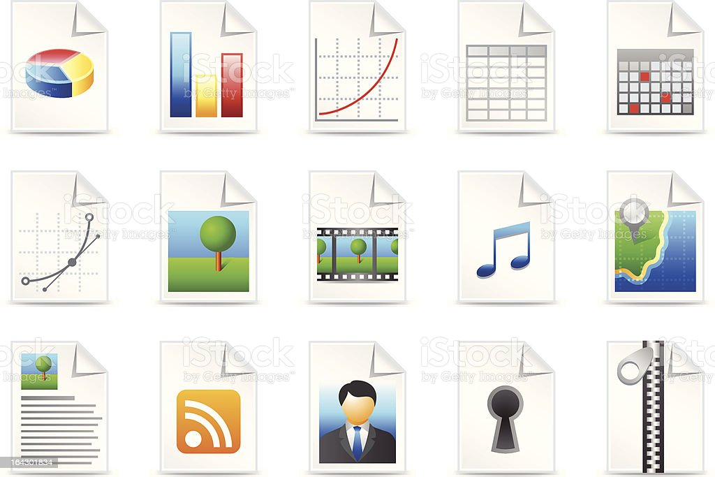 Data type icons royalty-free stock vector art