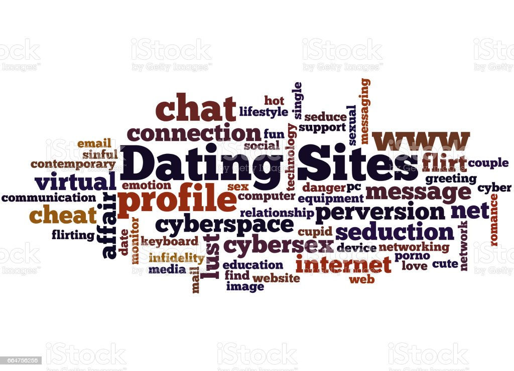 Dating Sites Word Cloud Concept 7 Stock Illustration - Download