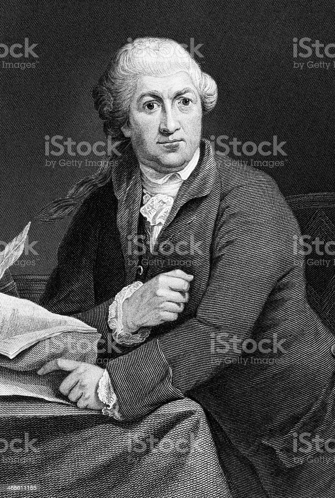 David Garrick royalty-free stock vector art