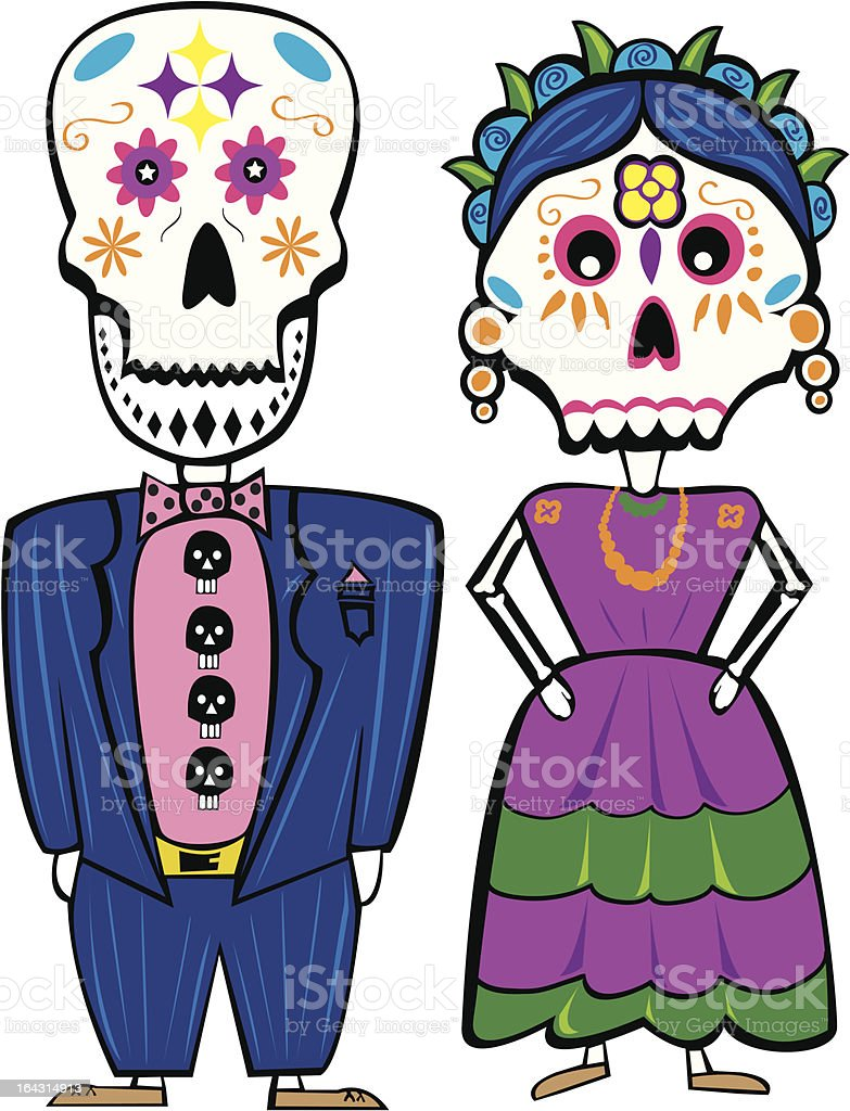 Day Of The Dead Couple Royalty Free Stock Vector Art