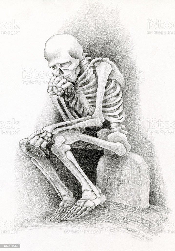 Ilustración De Día De Los Muertos Pensador Y Más Vectores Libres De