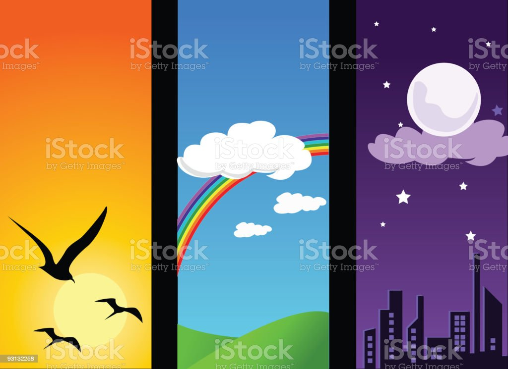 Day sequences royalty-free stock vector art