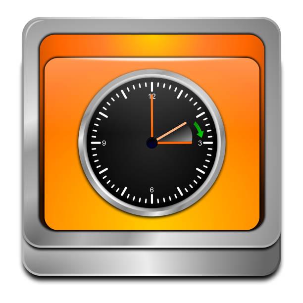 daylight saving time button - 3d illustration - spring forward stock illustrations, clip art, cartoons, & icons