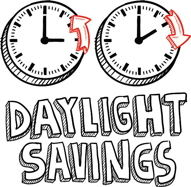 daylight savings time sketch - daylight savings time stock illustrations, clip art, cartoons, & icons