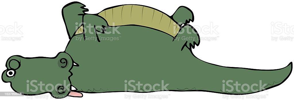 Dead Alligator vector art illustration