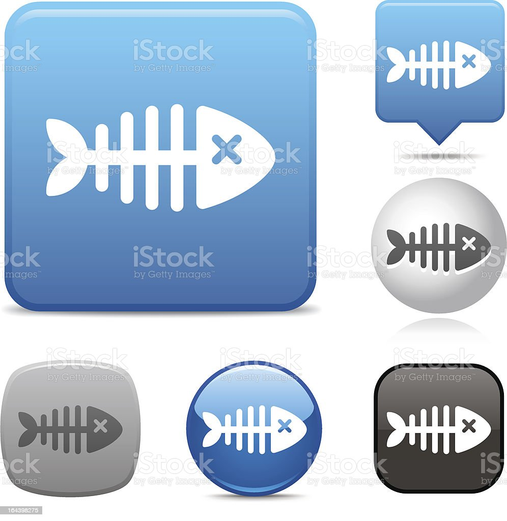 Dead Fish icon royalty-free stock vector art