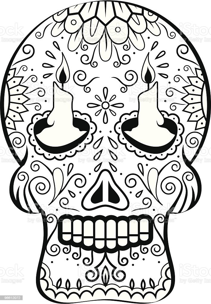 Dead Man's Calavera candles - Royalty-free Art And Craft stock vector