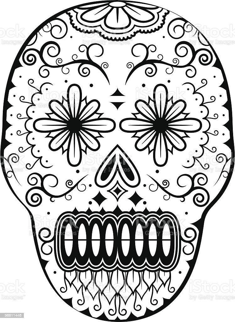 Dead Man's Calavera - Royaltyfri Alla helgons dag vektorgrafik
