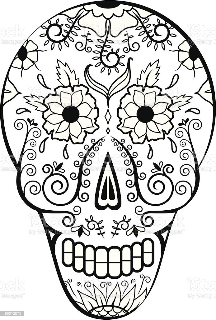 Dead Man's Calavera six - Royalty-free Art stock vector