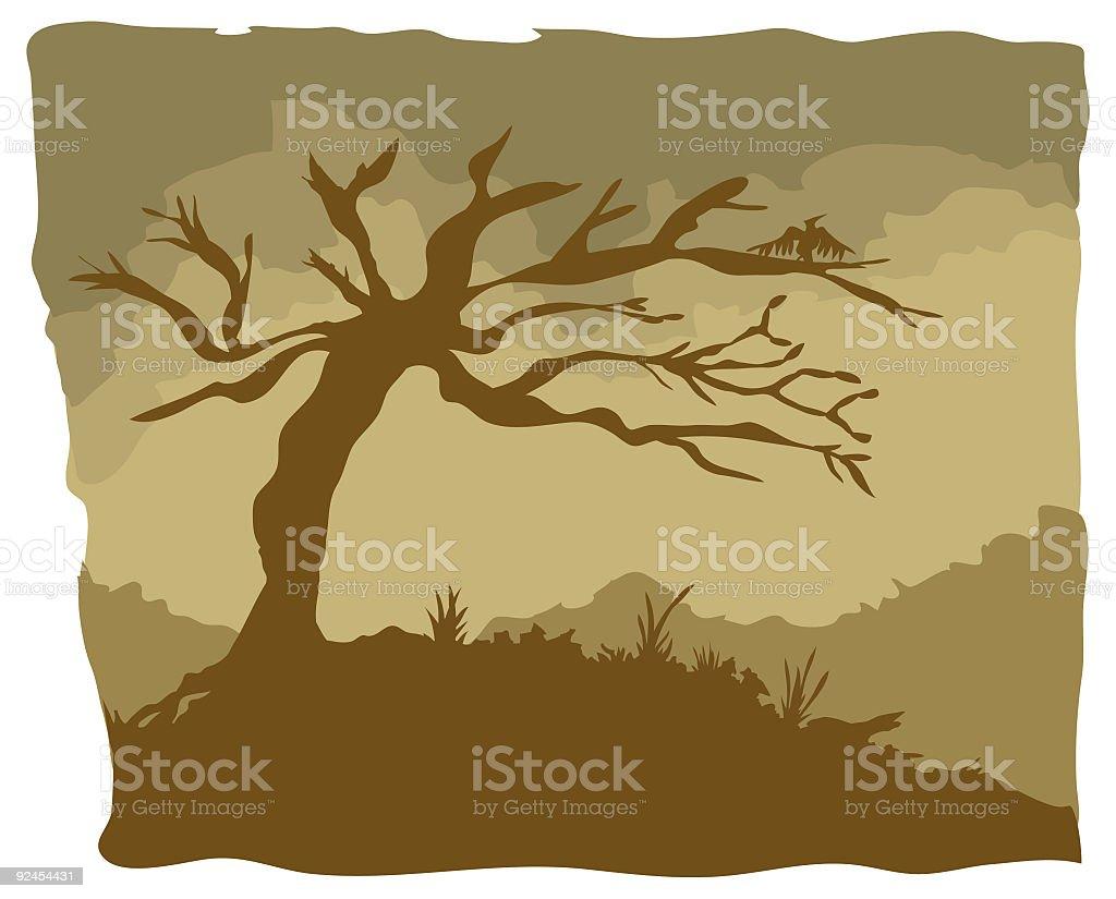 Dead Tree vector art illustration
