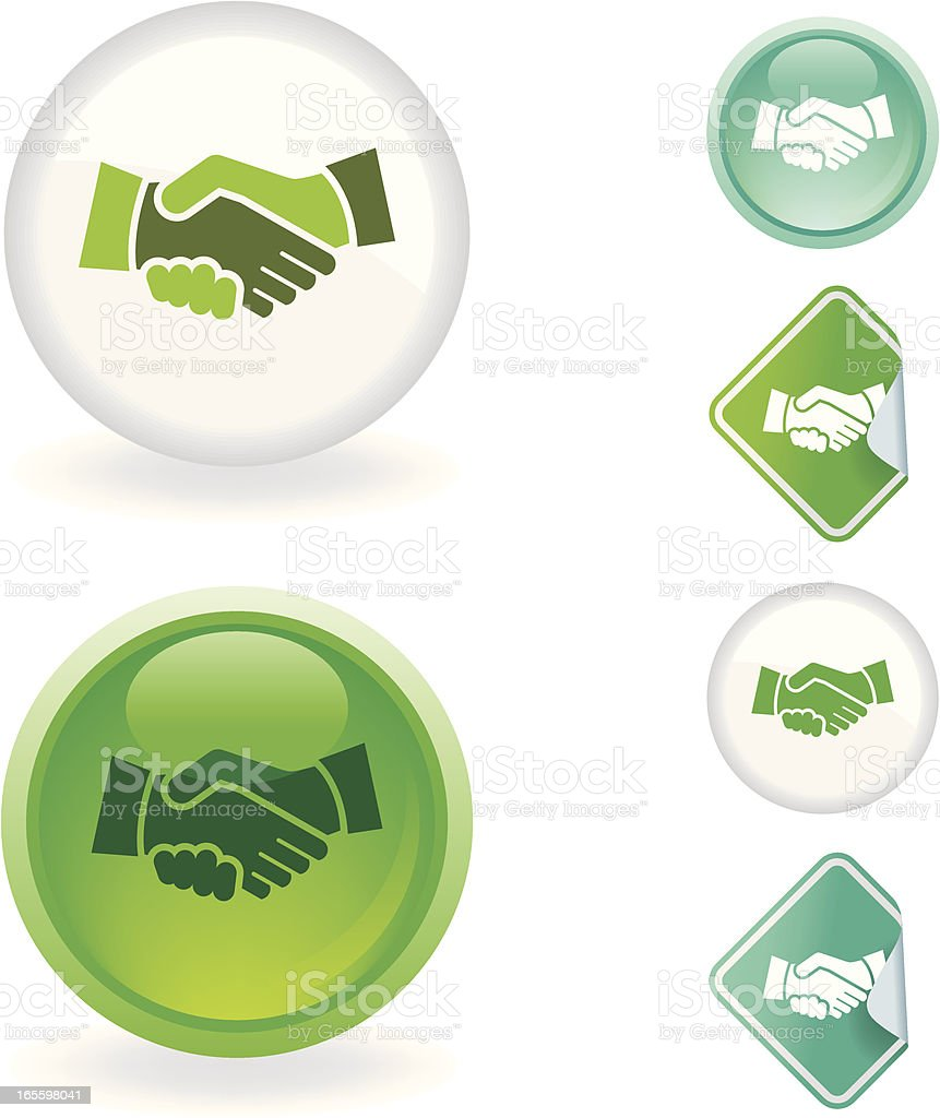 Deal  icon | Ecological series royalty-free stock vector art