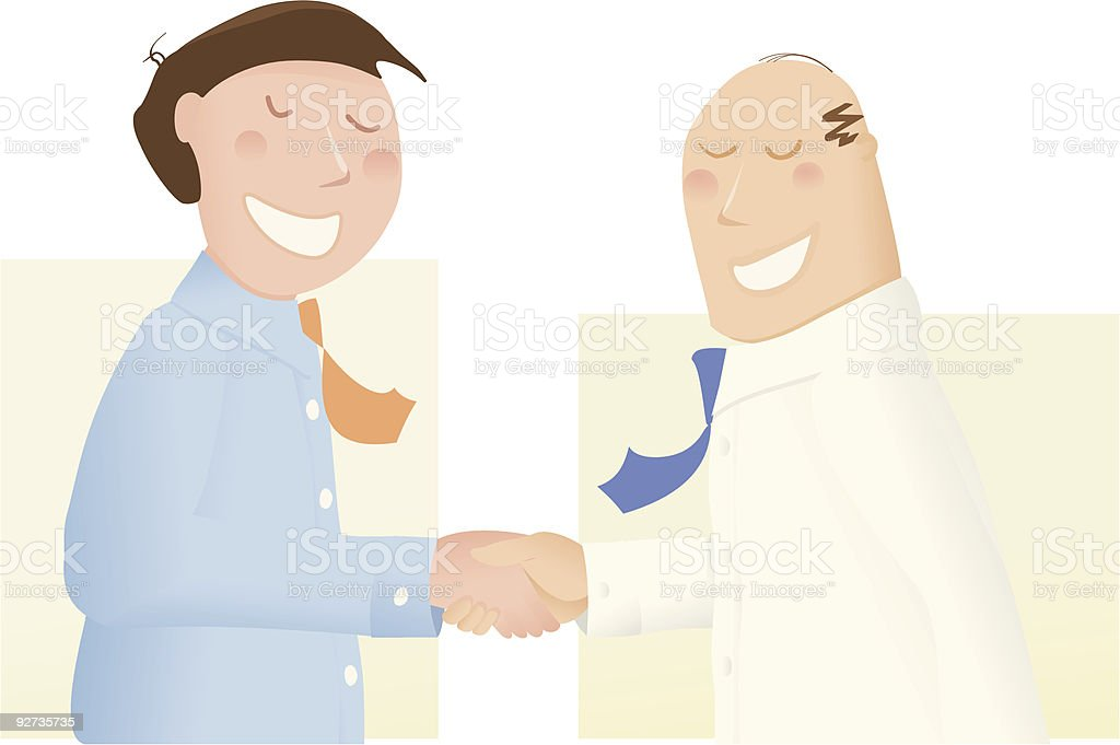 Deal makers, shaking hands on it  Agreement stock vector