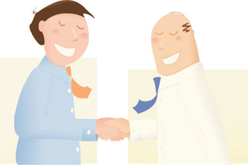 Deal Makers Shaking Hands On It Stock Illustration - Download Image Now