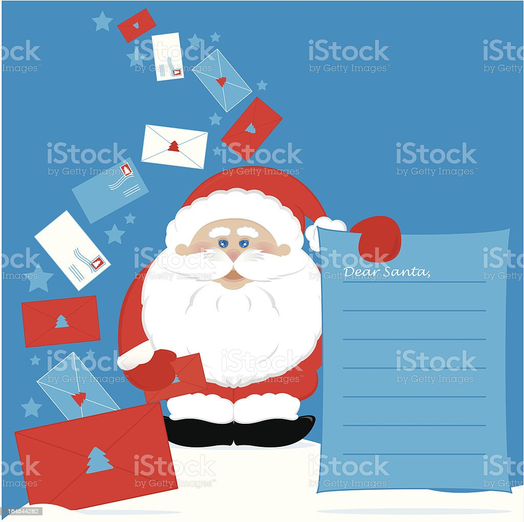 Dear santa... royalty-free stock vector art