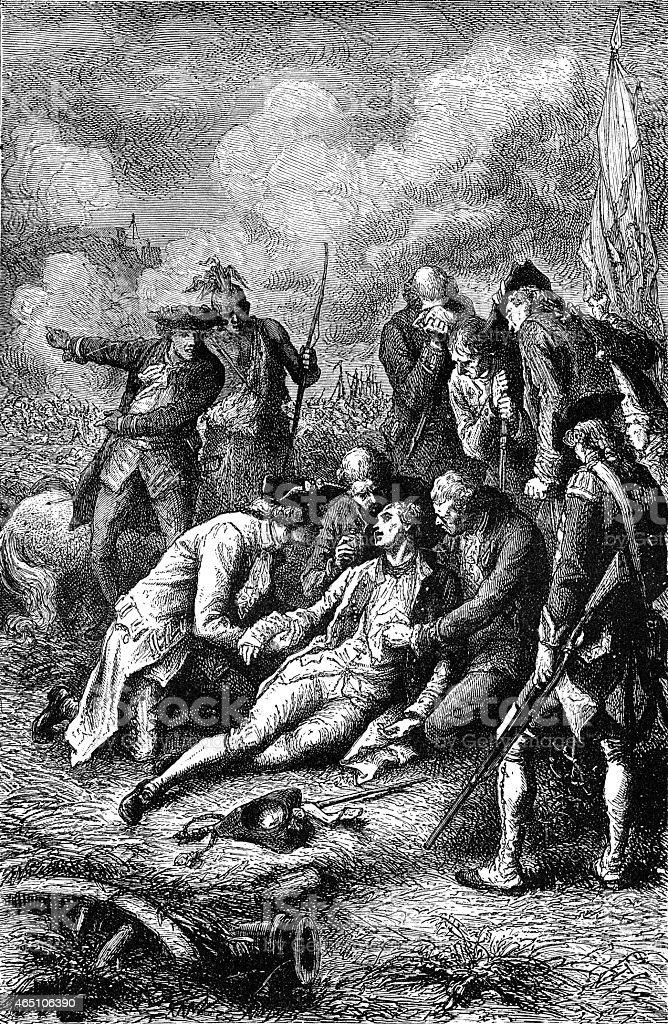Death of general Wolfe vector art illustration