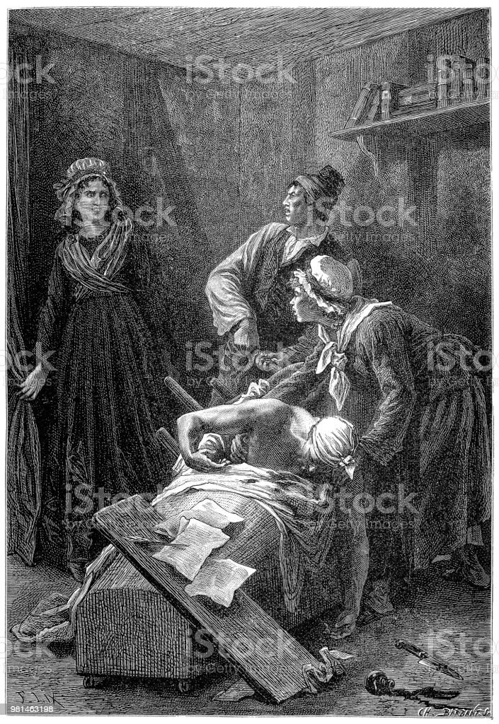 Death Of Jeanpaul Marat French Revolutionary And Jacobin Killed In