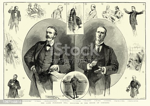 istock Debate in House of Commons, Purchase of Land Act 1891 1267146815