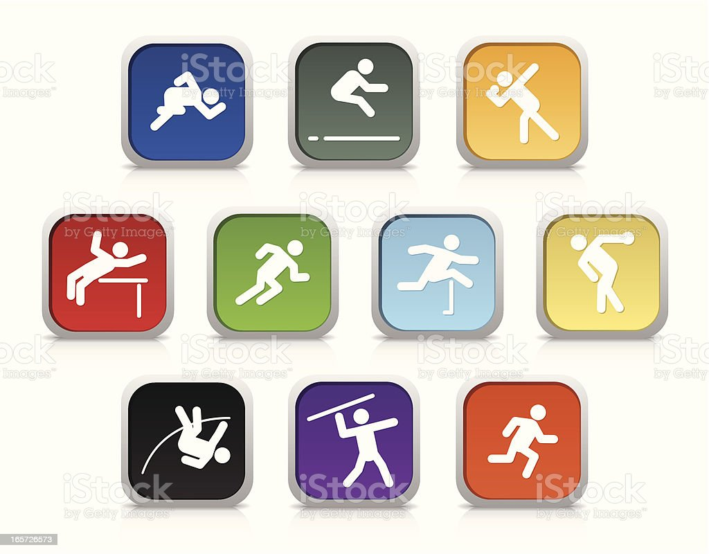 Decathlon | Glossy Collection royalty-free decathlon glossy collection stock vector art & more images of 100 meter