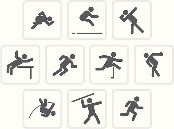 十種競技/生のコレクション - 陸上競技点のイラスト素材/クリップアート素材/マンガ素材/アイコン素材