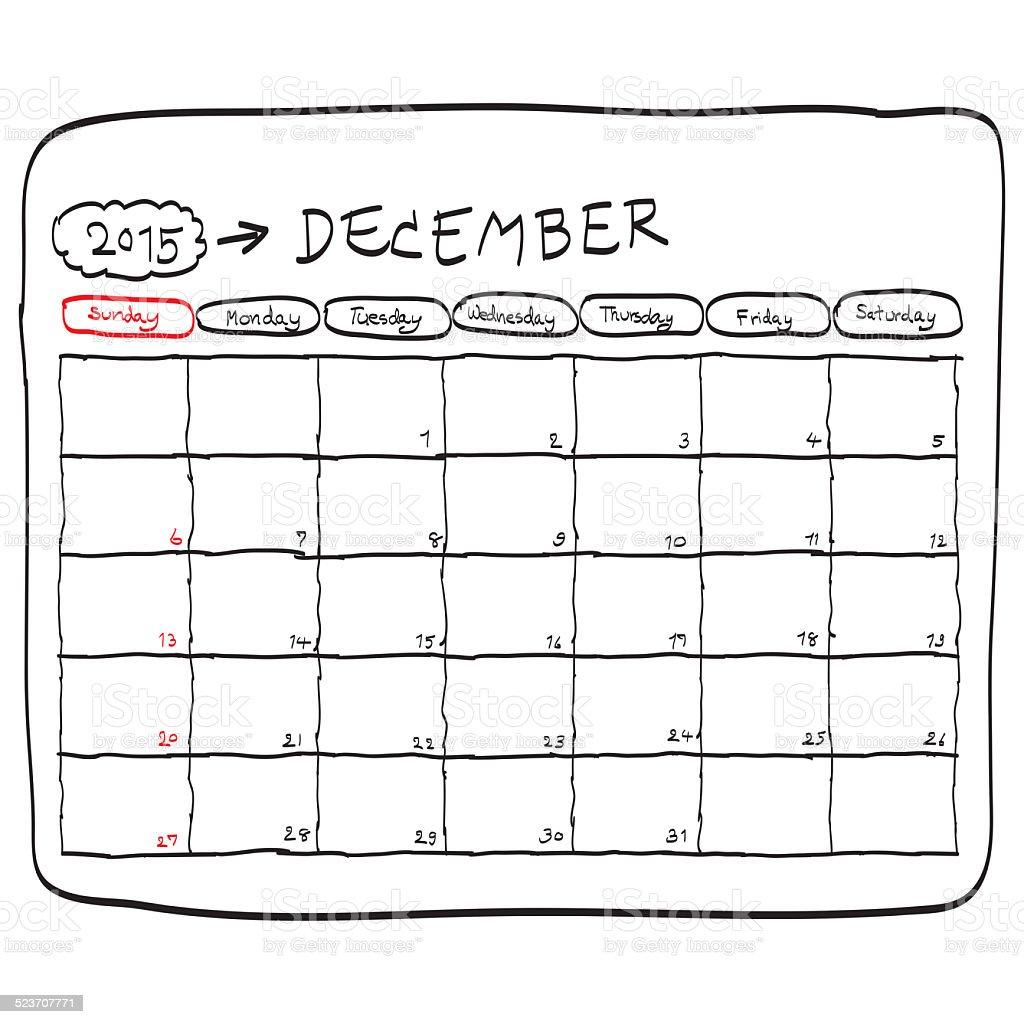 downloadable calendar december 2015