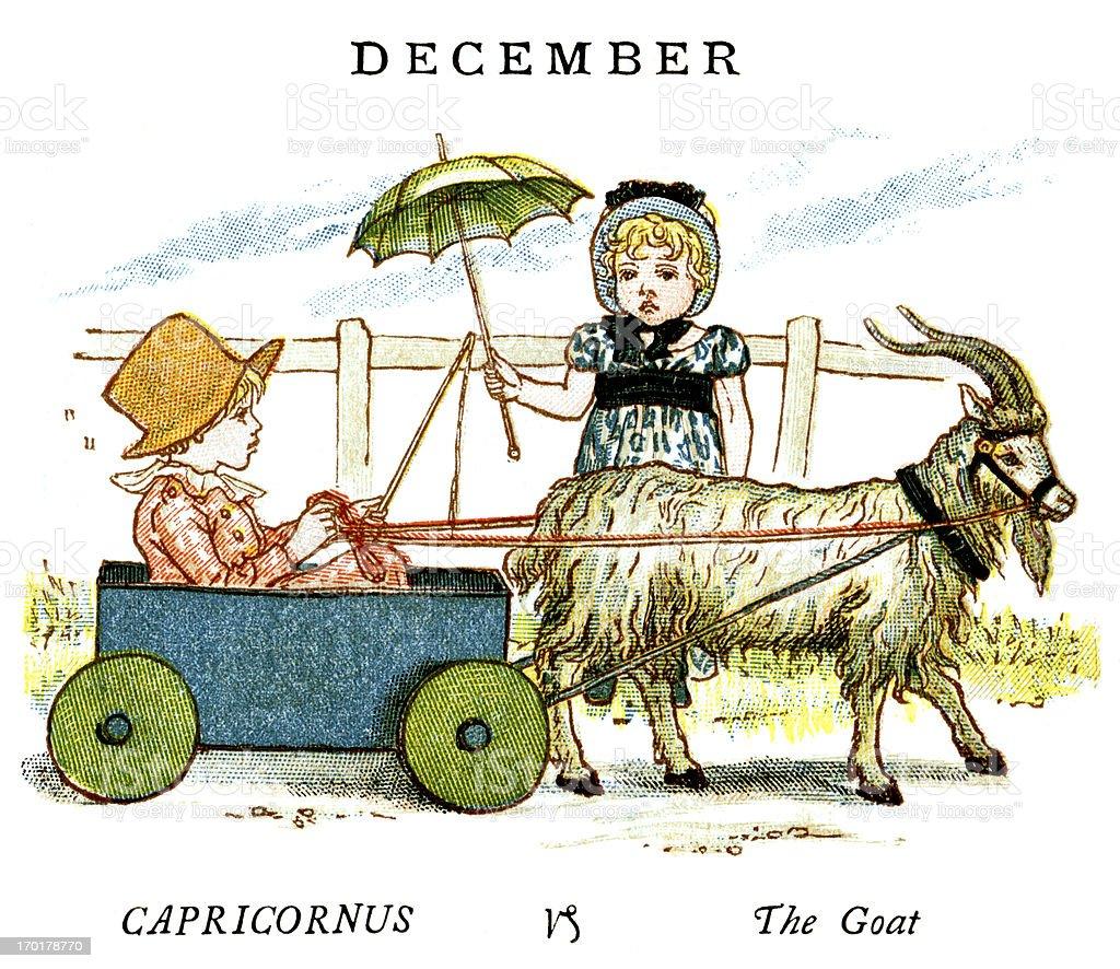 December - Kate Greenaway, 1884 royalty-free december kate greenaway 1884 stock vector art & more images of 1880-1889
