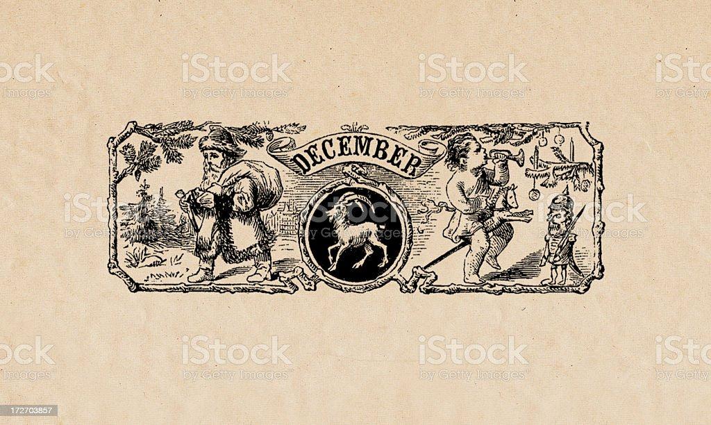 December/Capricorn royalty-free decembercapricorn stock vector art & more images of antique